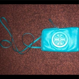 Tory Burch Teal Cardholder Crossbody